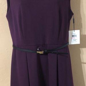 New with tags Calvin Klein plum sleeveless dress